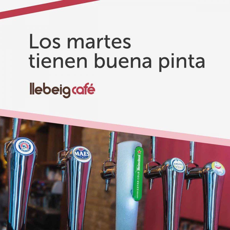 Vente de afterwork los martes a Llebeig Café