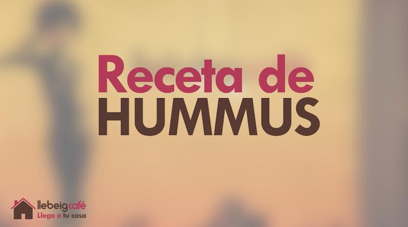 Receta de hummus Llebeig Café
